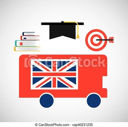 Learn english education icons vector illustration design
