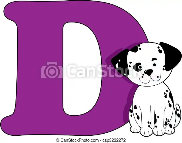 Letter d with a dog