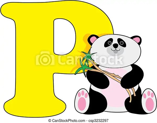 Letter p with a panda - p&l spreadsheet template
