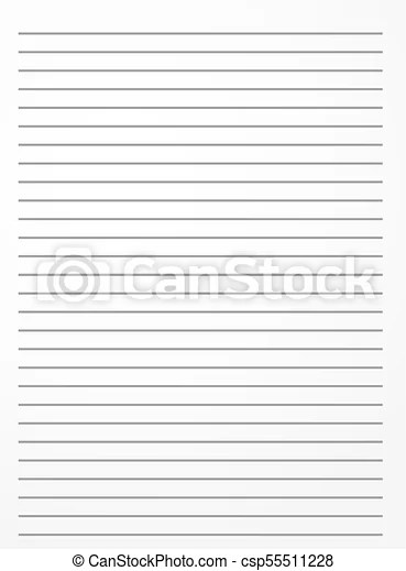 Striped notebook paper lined notepaper background template