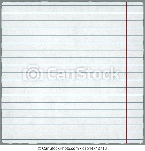 Lined paper blank design sheet vector illustration - eps vector - lined blank paper