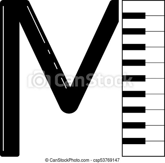 Logo to the word music for design