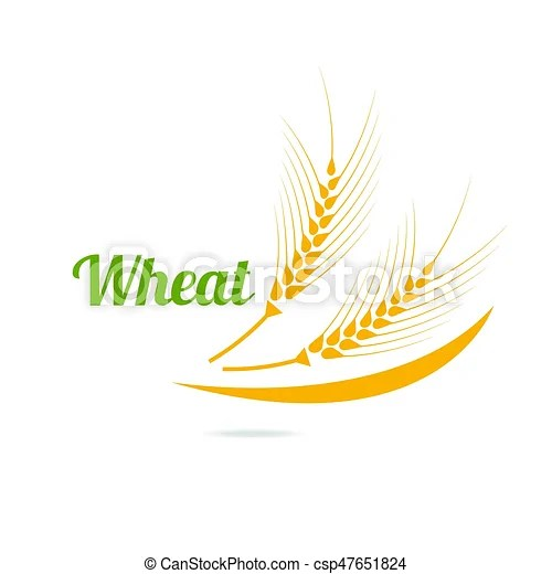 Logotype template with wheat wheat ears isolated on white - wheat template