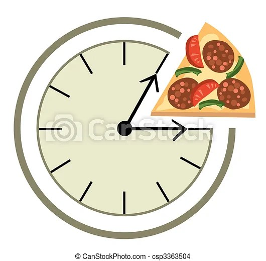 Lunch time Clock showing a lunch break