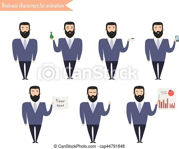 Man character for scenesparts of body template for animation funny