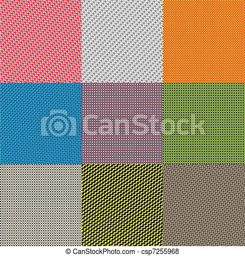 materials seamless pattern 9 non-suture patterns with different