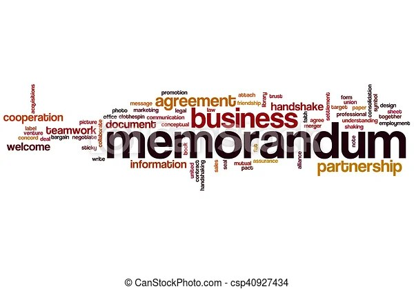 Memorandum word cloud concept