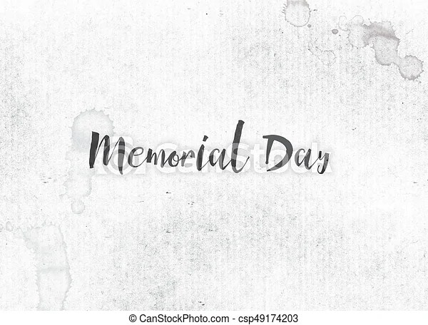 Memorial day concept painted ink word and theme The holiday