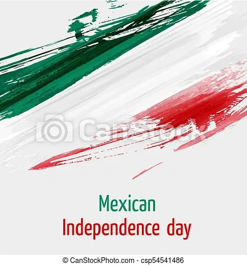 Mexican independence day background with grunge lines in flag colors - independence day flyer