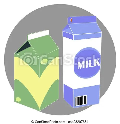 Milk carton boxex Milk carton box template clip art vector - Search - Milk Carton Template