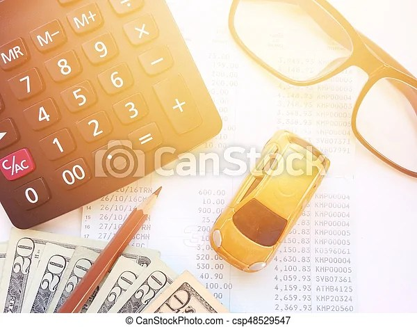 Business, finance, savings, banking or car loan concept  stock