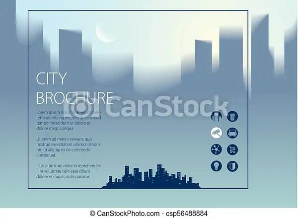 Minimal city traveling tourist information horizontal a4 brochure, flyer