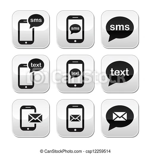 Mobile sms text message mail button Messaging, sending text - cool text message art