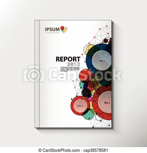 Modern annual report cover design vector concept Modern annual