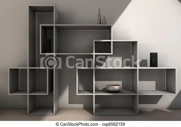 Modern Bookcase View Of Modern Designed Bookcase
