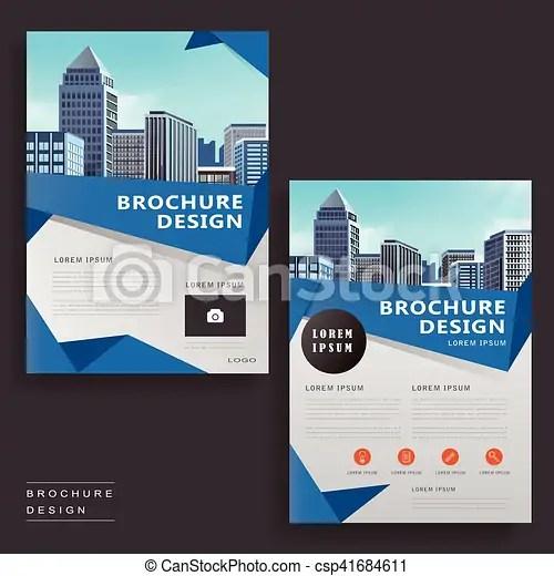 Modern brochure design Contemporary brochure template vector - contemporary flyer