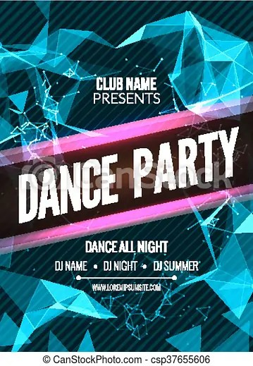 Modern club music party template, dance party flyer, brochure night