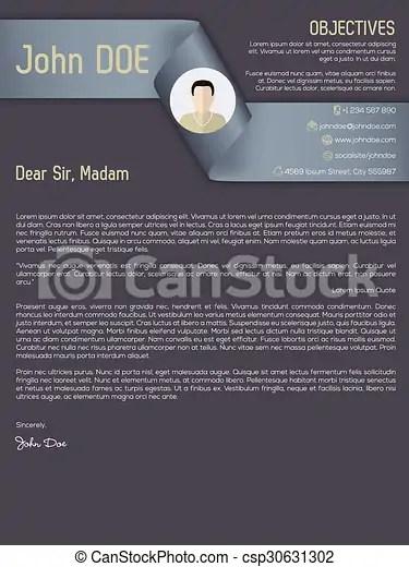 Modern cover letter cv resume with ribbon header Modern cover