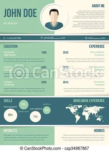 Modern resume cv template with color elements Modern resume cv