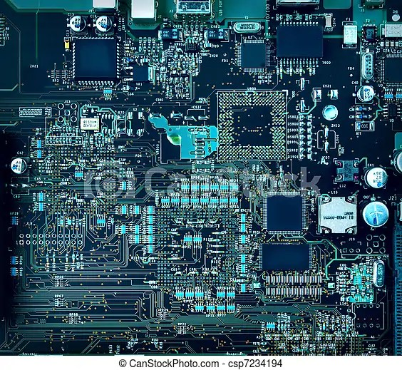 Motherboard components and circuits Inside computer, hardware