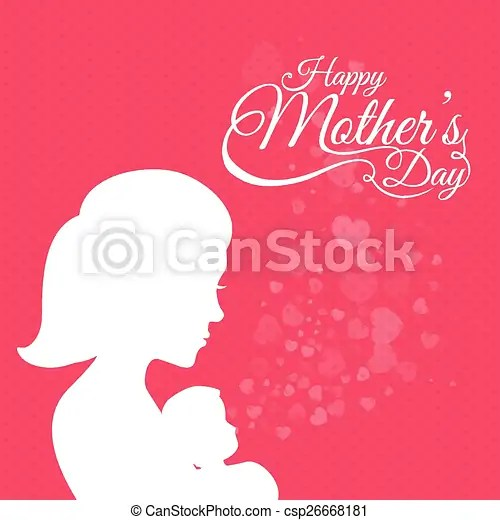 Mothers day card design Happy mothers day card design, vector
