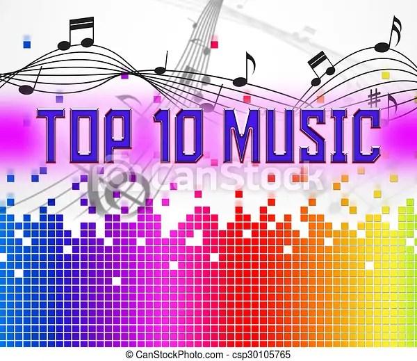Music charts represents hit parade and hits Chart music stock