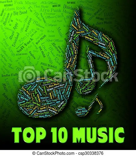 Music charts shows hit parade and harmony Chart music stock - music chart