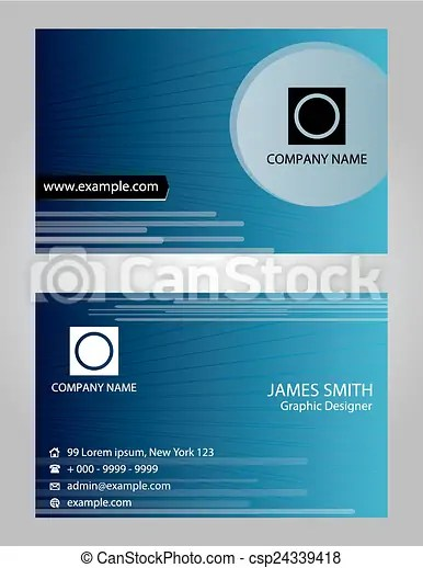 Name card - card visit vector clip art - Search Illustration - name card example