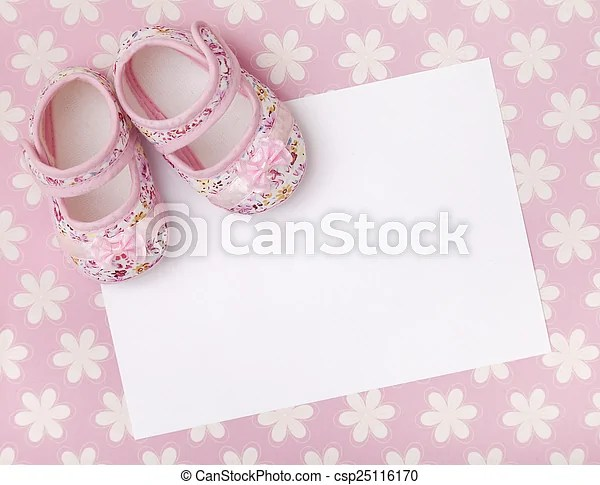 Blank baby announcement Blank card for a new baby or baby shower
