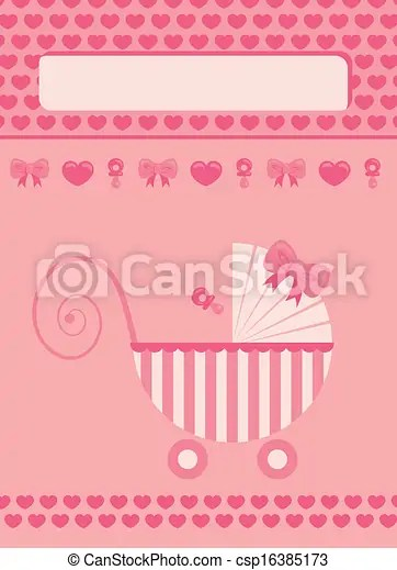 New born baby girl greeting card New born baby girl pink greeting card - greeting for new baby girl