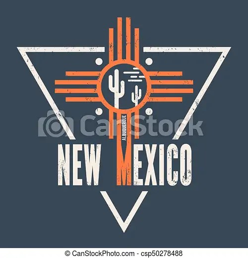 New mexico t-shirt design, print, typography, label New mexico t