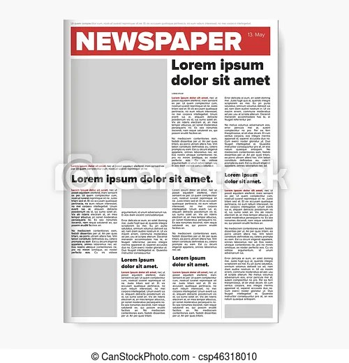 Newspaper layout vector design paper - newspaper