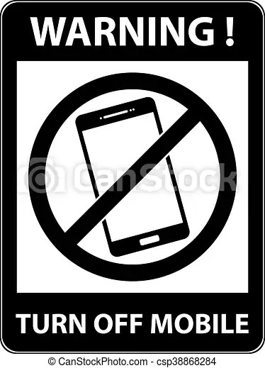 No phone, telephone prohibited symbol vector No phone, telephone - Turn Off Cell Phone Sign