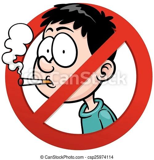 Vector illustration of no smoking sign