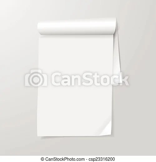 Note paper template isolated on grey background vector clipart - note paper template