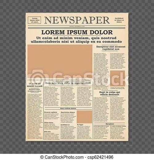 old newspaper front page template - Pinarkubkireklamowe