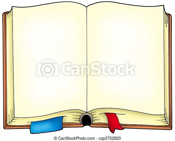 Old opened book - color illustration stock illustration - Search - opened book