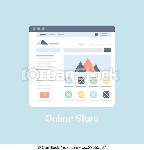 Online store wireframe Online store website wireframe interface