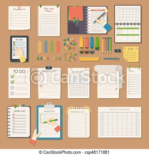 Open notebooks clean pages diary template booklet blank vector - diary paper template