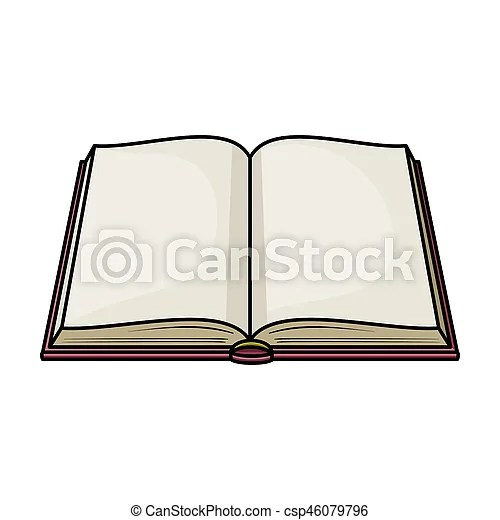 Opened book icon in cartoon style isolated on white stock - opened book