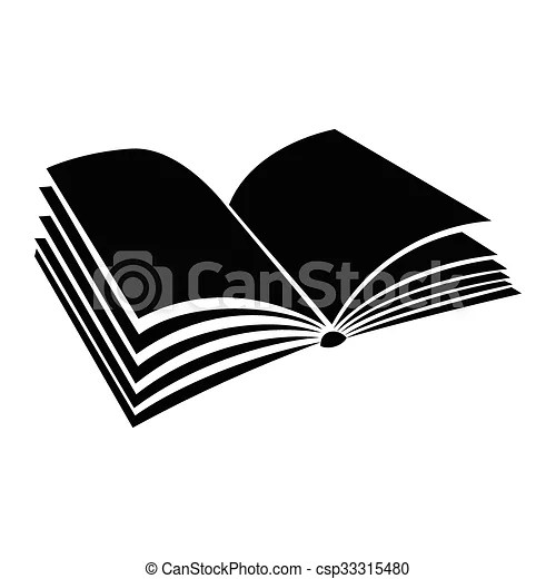 Opened book with pages fluttering icon Opened book with pages - opened book