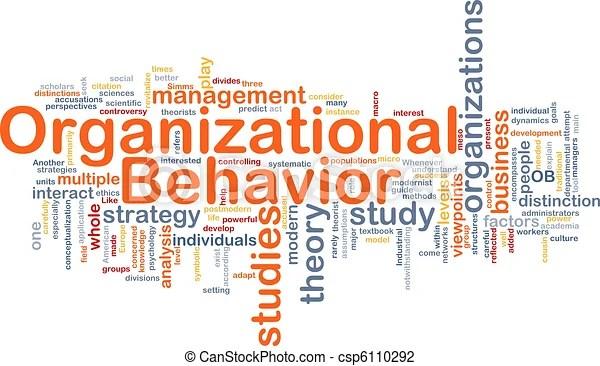 Organizational behavior is bone background concept Background