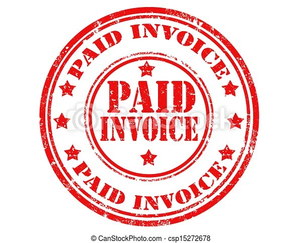 Paid invoice-stamp Grunge rubber stamp with text paid invoice