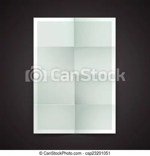 Paper blank brochure template hanging over wall clipart vector