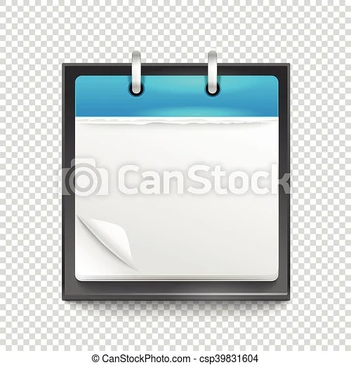 Paper diary on transparent background template for a text vector - diary paper template