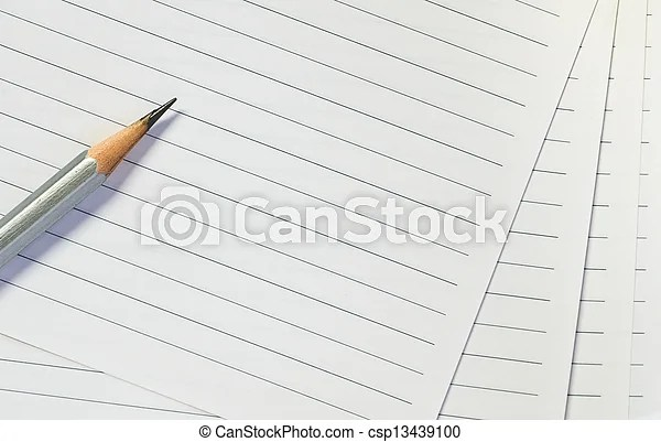 Pencil on lined paper background - line paper background