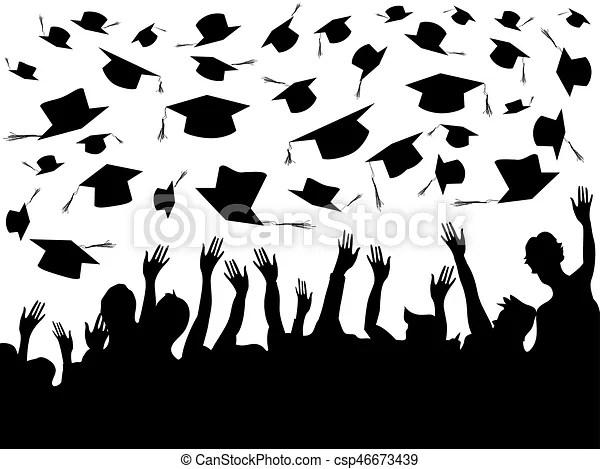 Graduation celebrating invitation or postcard background Vector
