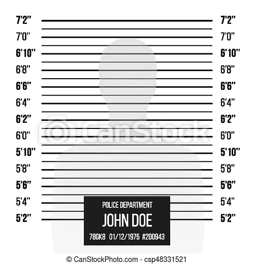 Police mugshot vector police lineup isolated on white background