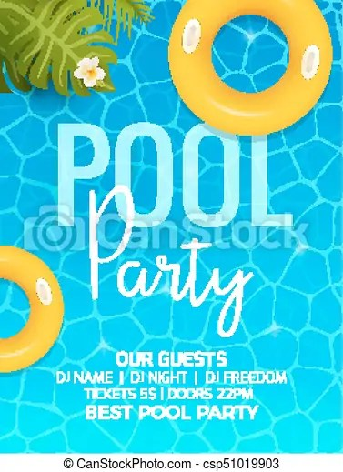 Pool summer party invitation template invitation pool party - summer party invitation template free