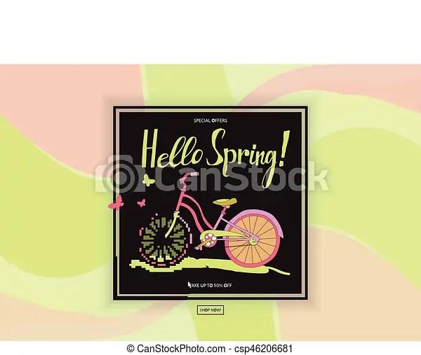 Vintage bike poster spring sales for flyer templates with lettering